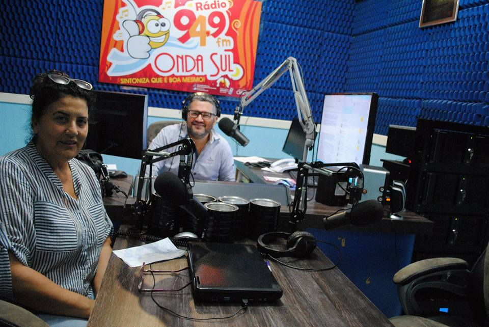 Nossa presidente hoje na rádio Onda Sul FM