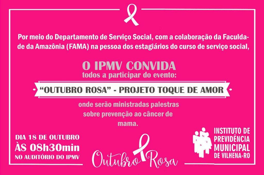 Evento IPMV – Outubro Rosa