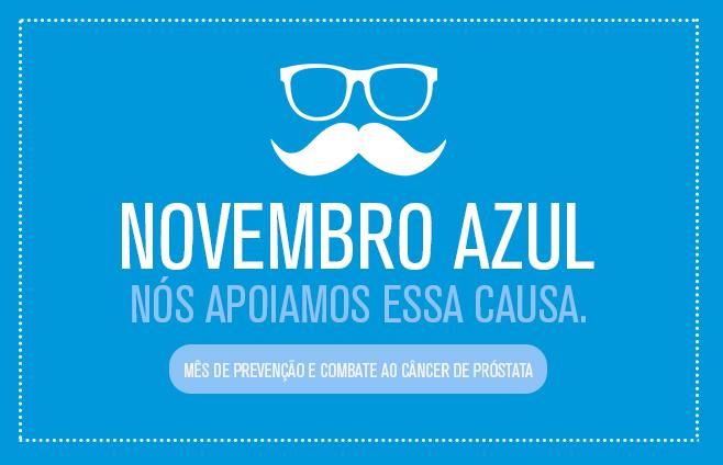 Novembro Azul, nós apoiamos essa causa!
