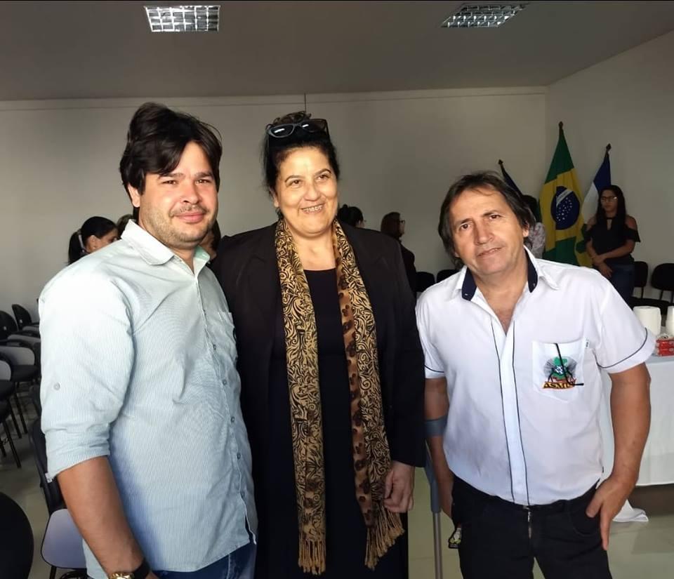 Nossos presidentes da ASMUV e Sindsul com a presidente reeleita do IPMV.