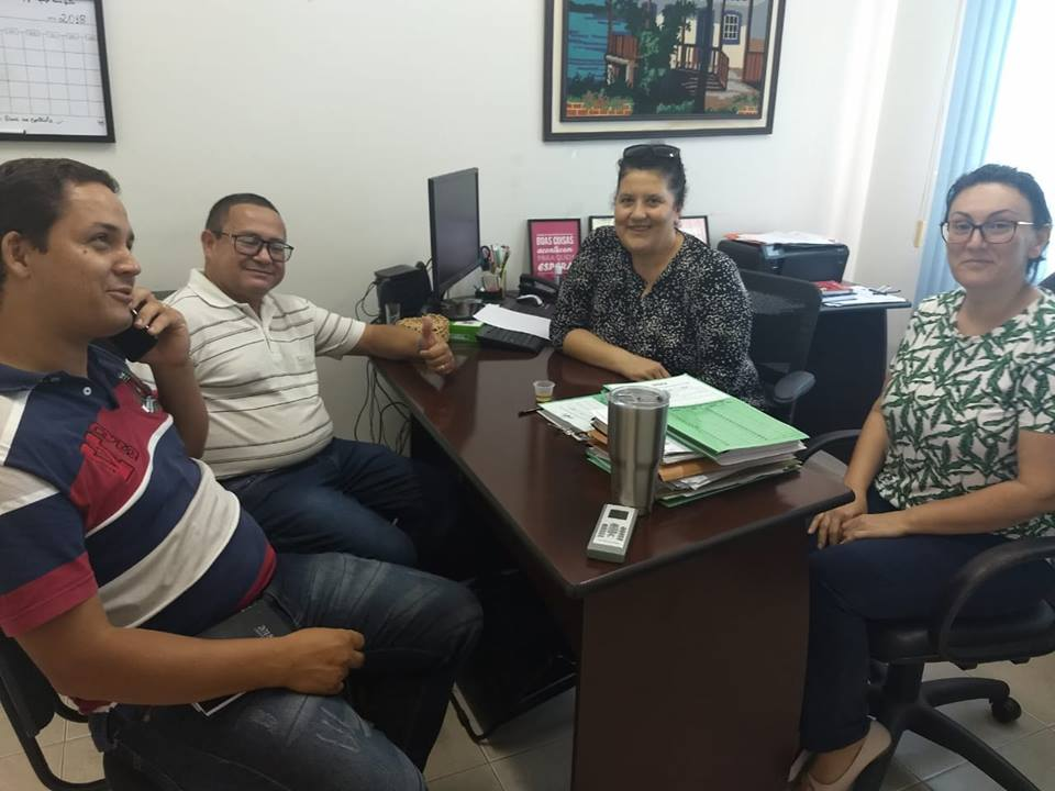 Visita do Presidente e Secretário do Sindicato dos Servidores Municipais de Cacoal.