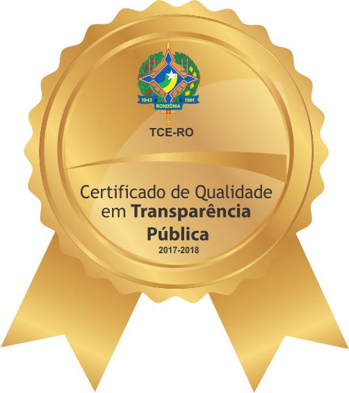 Certificado de Qualidade em Transparência Pública