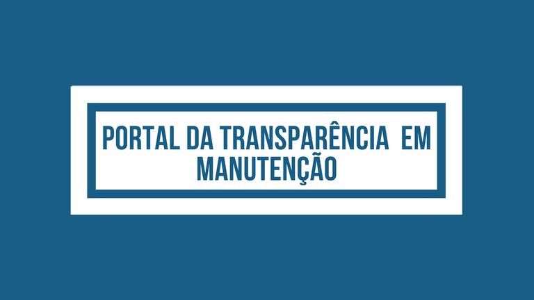 Portal Transparência do IPMV em Manutenção