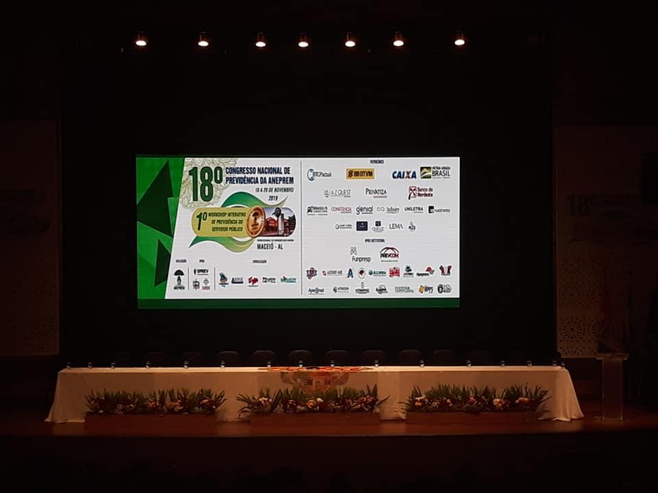 Início do 18 Congresso Nacional de Previdência da ANEPREM