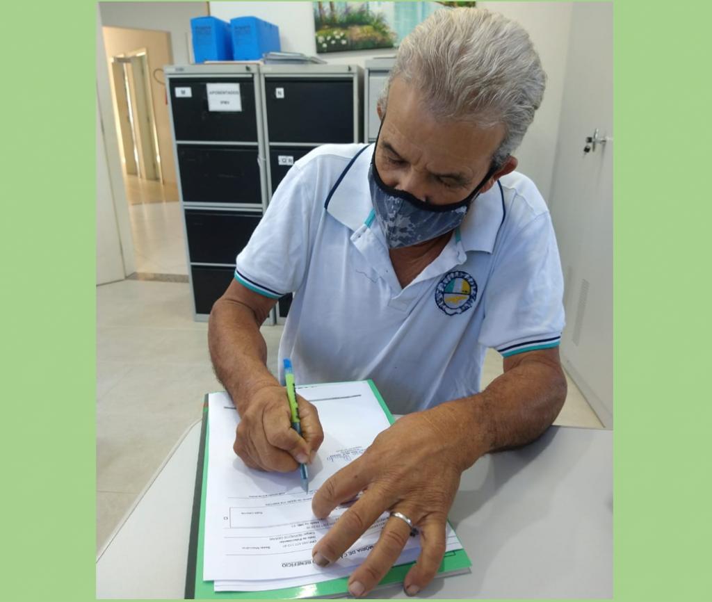 Servidor da Semosp, José Aparecido Moreira, é o mais novo aposentado no IPMV