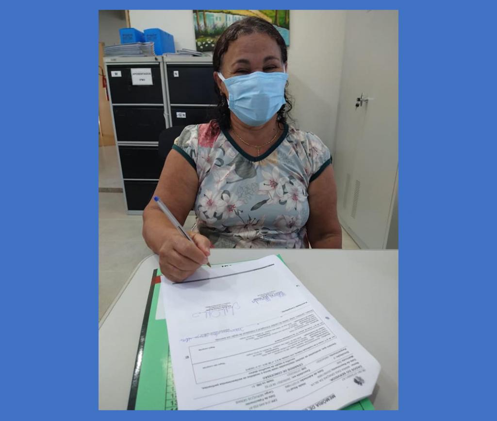 IPMV recebe nova aposentada: Maria das Graças da Silva