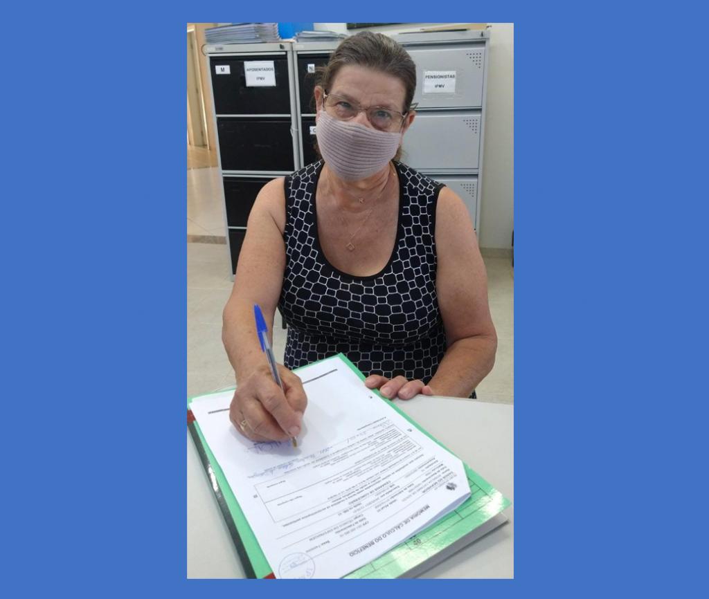 Rosalva Catanio de Souza conquista sua aposentadoria no IPMV