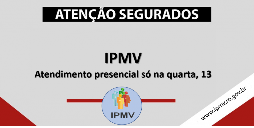 IPMV retoma atividades de atendimento na quarta, dia 13 de outubro